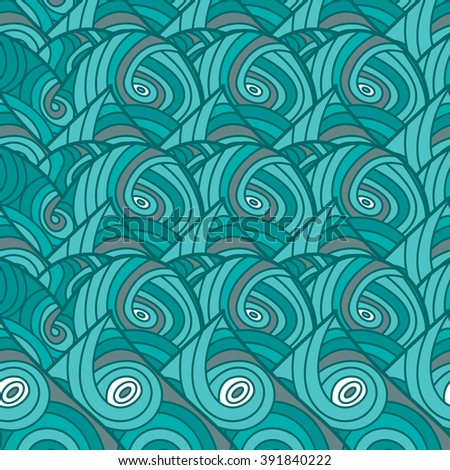Abstract background with wave in blue color. Cover, wallpaper.