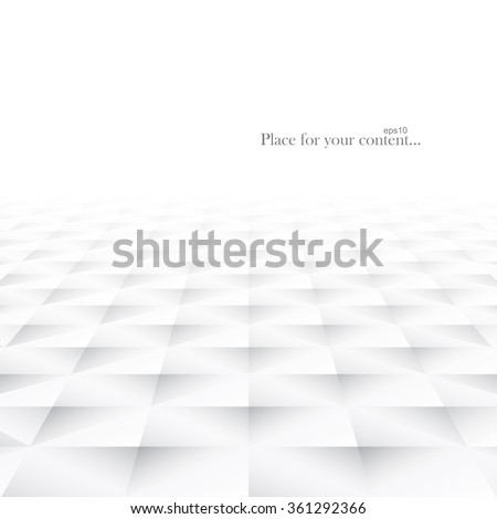 Abstract background with white geometric shapes. White and grey smooth texture. Vector illustration - eps10. - stock vector