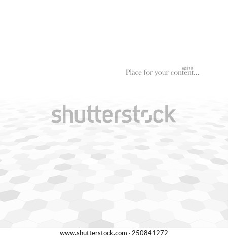Abstract background with white shapes. White and grey texture. Vector illustration - eps10 - stock vector