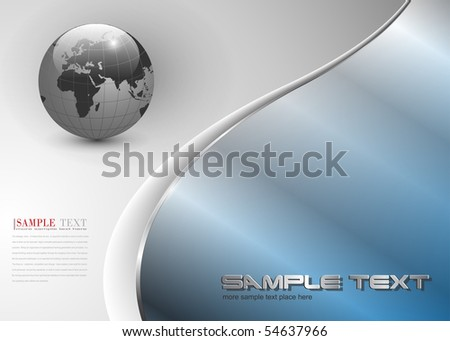 Abstract  background with world globe, vector. - stock vector