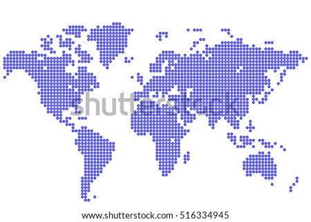 Abstract background world map round dots stock vector 516334945 world map round dots vector illustration gumiabroncs Choice Image
