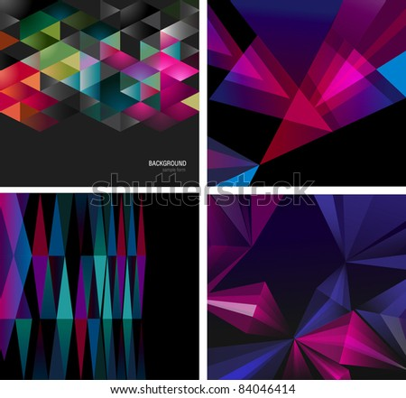 Abstract backgrounds for design - stock vector