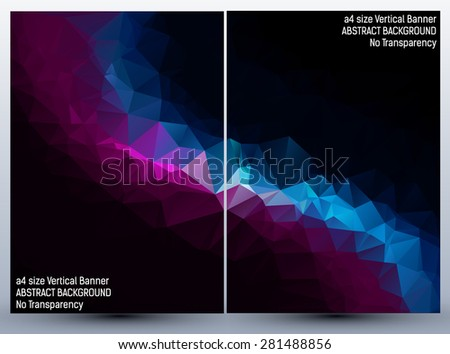 Abstract backgrounds set, brochure & flyer designs, cover templates on black background
