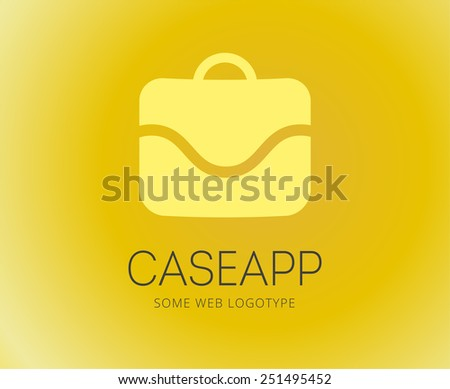 Abstract bag vector logo template for branding and design - stock vector