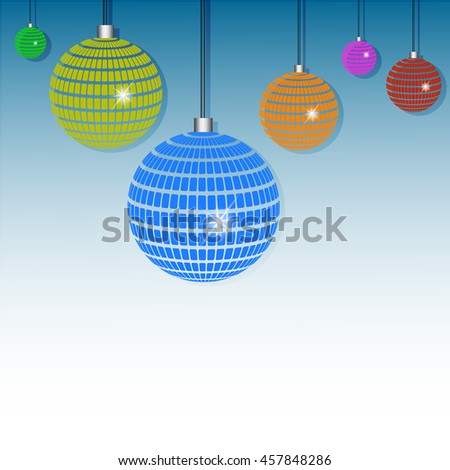 Abstract balls isolated on blue background, vector illustration