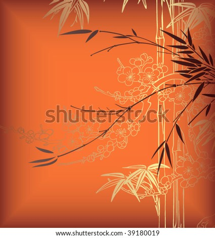 Abstract Bamboo Background 2 - stock vector