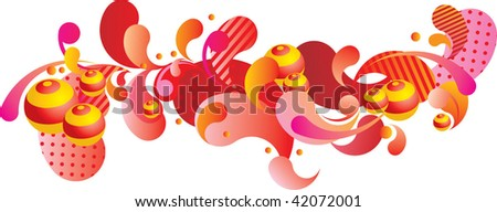 abstract banner - stock vector