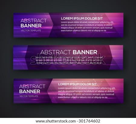 Abstract banner design. Vector. Disco nighclub disco DJ. Cosmic HUD sci-fi interface. Science news sport. War online games - stock vector