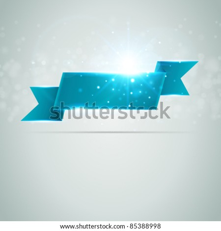 Abstract banner from ribbon vector background eps 10 - stock vector