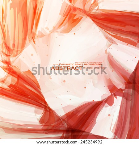 Abstract banner paints, vector background, colorful art illustration eps10 - stock vector