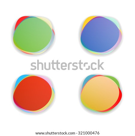 abstract banner set - stock vector