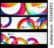 Abstract banner with forms of empty frames for your web design. - stock vector