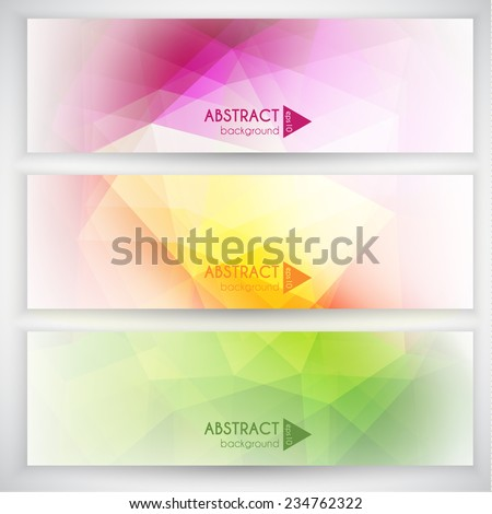 Abstract banners collection - eps10 - stock vector