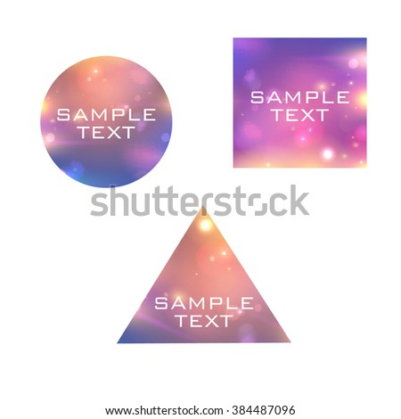 Abstract banners set isolated on white - vector illustration.