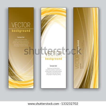 Abstract Banners. Vector Backgrounds. Eps10 Format. - stock vector