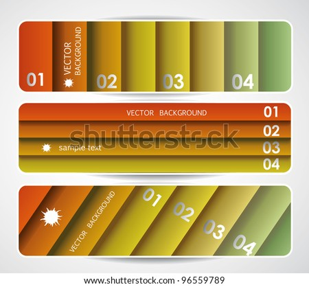 Abstract banners with numbers - stock vector