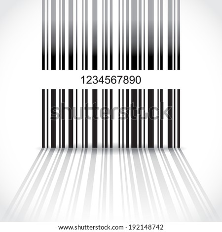 Abstract barcode background - illustration - stock vector