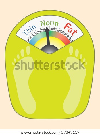 Abstract Bathroom Scales - vector illustration - stock vector