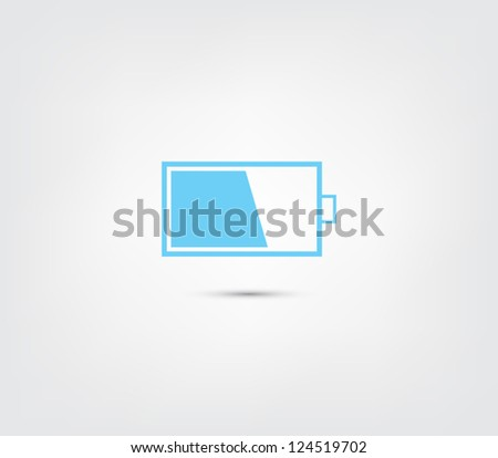Abstract battery icon / button for websites (UI) or applications (app) for smartphones or tablets. Pictogram - stock vector