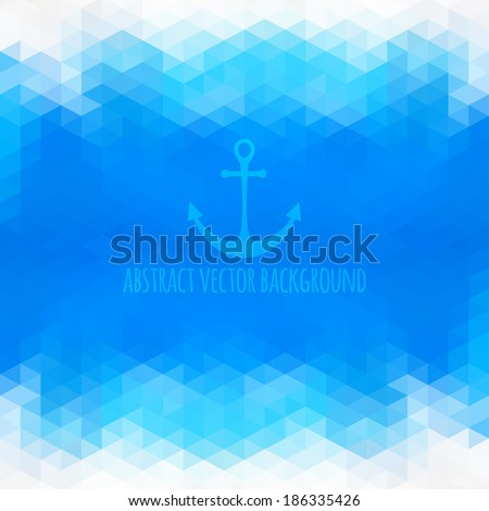 Abstract beach triangular background made of polygonal shapes. Vector illustration. Holiday design. Backdrop. Gradient.  - stock vector