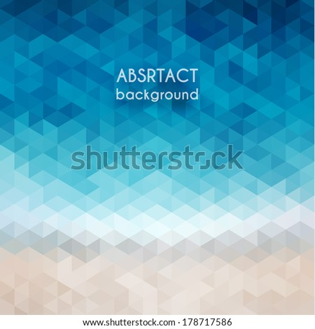 Abstract beach triangular pattern - eps10 - stock vector