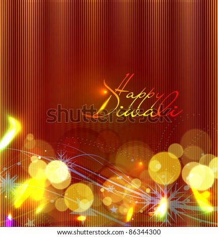 abstract beautiful diwali vector background design. - stock vector