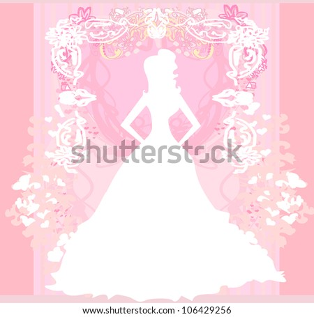 Abstract Beautiful floral bride - stock vector