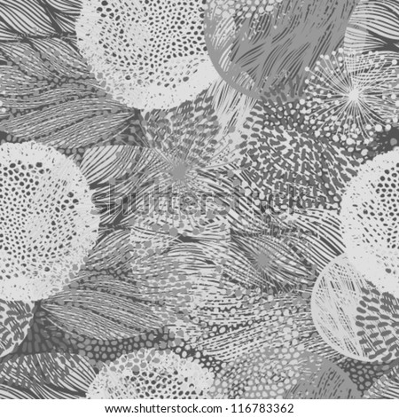 abstract beautiful floral seamless pattern - stock vector