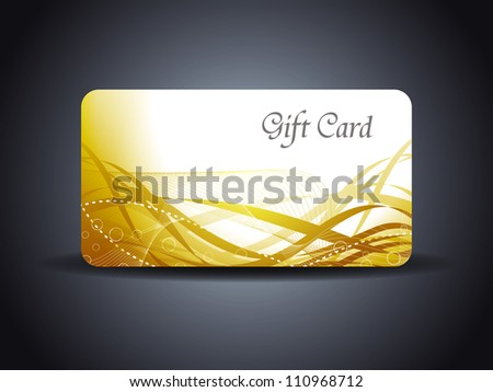 abstract beautiful gift card design in wave style - stock vector