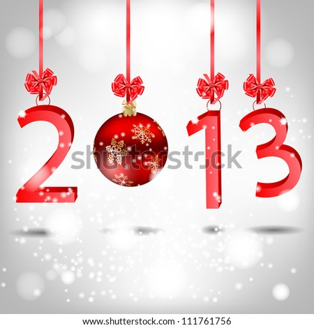 Abstract beauty Christmas and New Year background. - stock vector