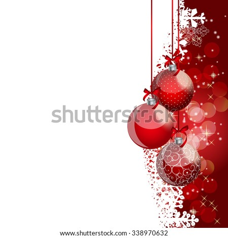 Abstract Beauty Christmas and New Year Background. Vector Illustration EPS10 - stock vector