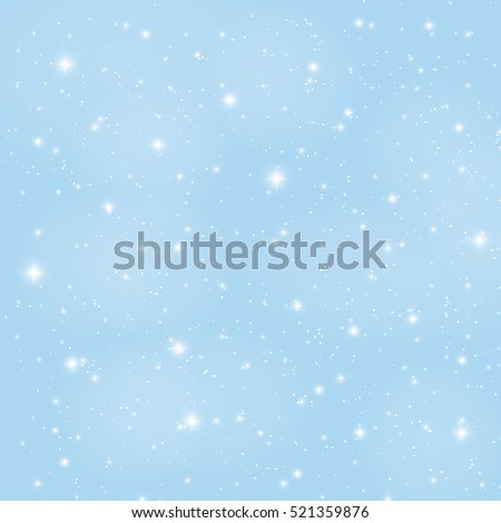 Abstract Beauty Christmas and New Year Background with Snow and Snowflakes. Vector Illustration