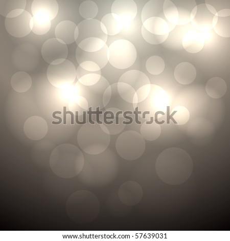 Abstract beige bokeh vector  background. - stock vector