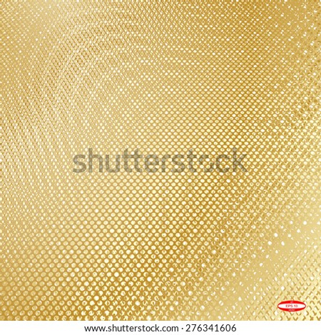 abstract beige floral pattern golden gay texture background. vector illustration - stock vector