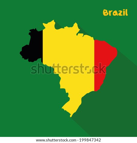 abstract belgium flag on abstract brazil stock vector 199847342