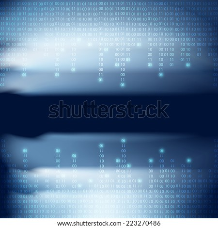 Abstract binary code background. Matrix style. EPS10 vector. - stock vector