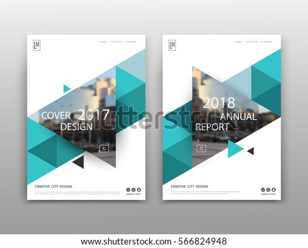 brochure front cover design abstract binder layout white a 4 brochure stock vector