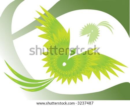 abstract bird - stock vector
