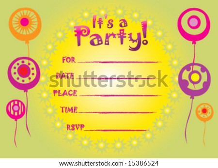 Abstract birthday invitation greeting card