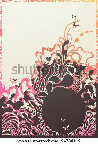 Abstract bizarre background. Vector illustration. - stock vector