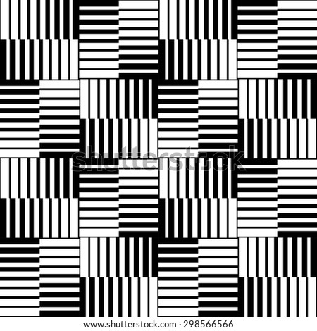 Abstract black and white background, seamless vector pattern. Vector - stock vector