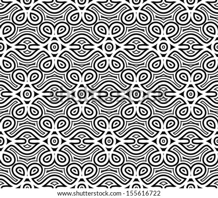 Abstract black and white background, vector seamless pattern - stock vector