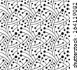 Abstract black and white seamless pattern.  - stock
