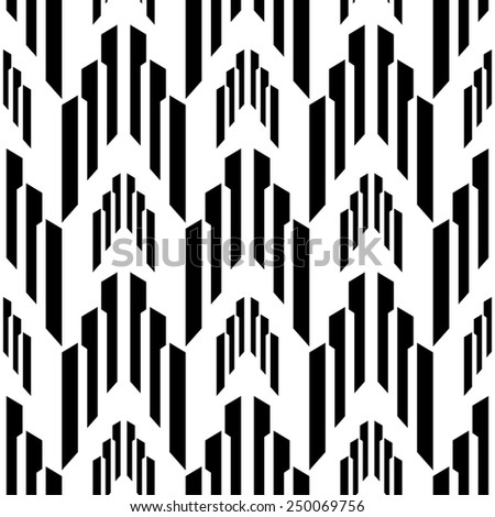 Abstract black and white seamless pattern,geometrical vector background - stock vector