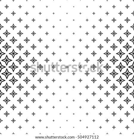Abstract black and white thorn pattern design background