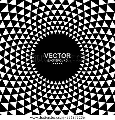 Abstract black and white triangle background. - stock vector