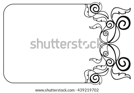 Abstract black and white vector frame. - stock vector
