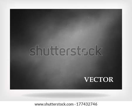 abstract black background vector, old black cloudy border frame white gray background, vintage grunge background texture smoky design, black and white monochrome background billboard vector or sign - stock vector