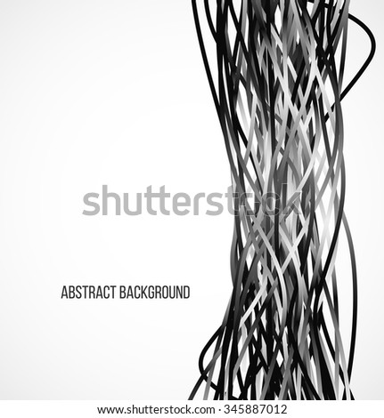 Abstract black background with vertical lines. Vector illustration - stock vector
