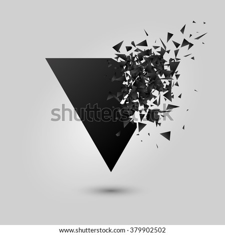 Abstract black explosion. Geometric background. Vector illustration - stock vector